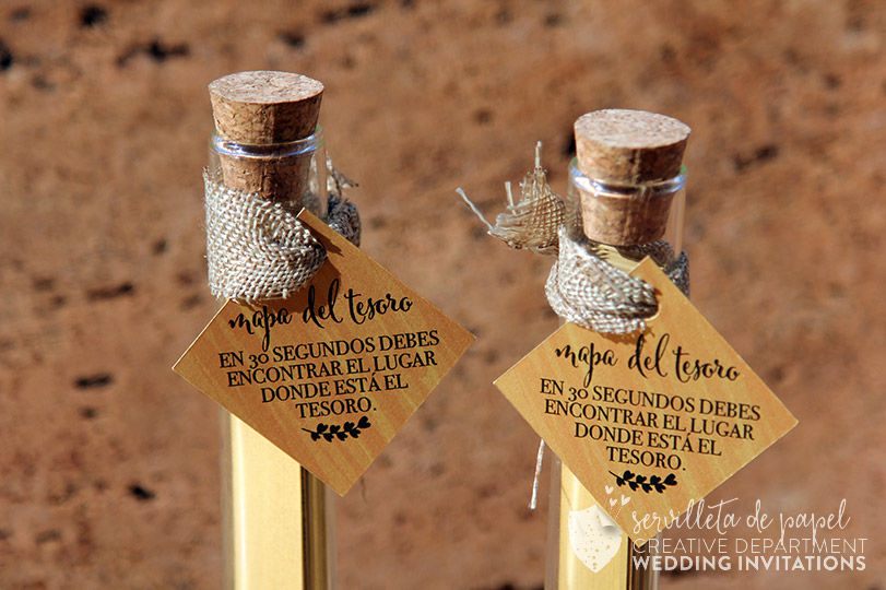 Invitación de boda Anna + Xavi   www.servilletadepapel.es
