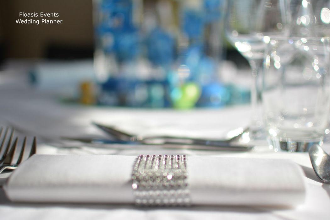 Rond de serviette strass - Floasis Events wedding planner