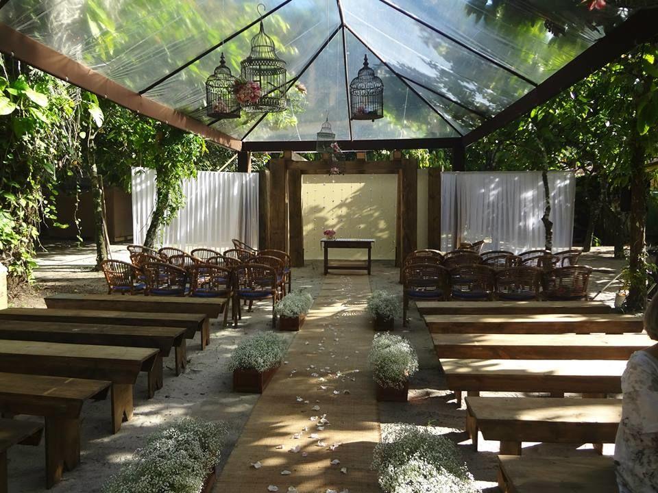 Tenda Revestida - Cerimonia - Cacau Restaurante