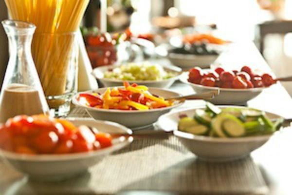 Beispiel: Buffet-Impressionen, Foto: Gasthaus Foerdeblick.