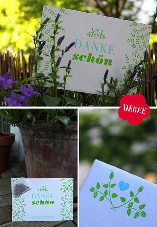 Beispiel: Danksagungskarten, Foto: Ein Stück vom Glück.