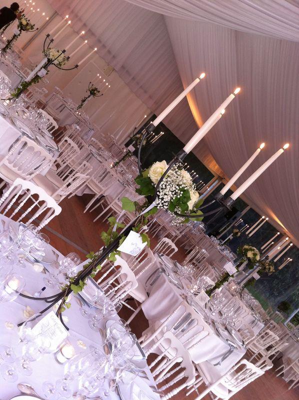 centre de table chandelier