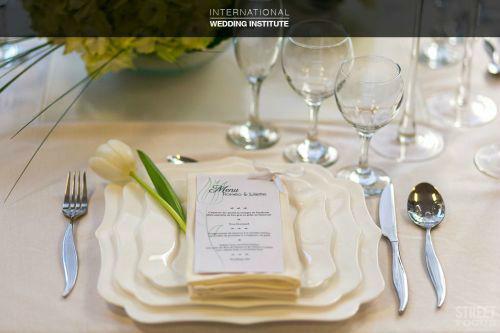 Beispiel: Hochzeitsmenü, Foto: International Wedding Institute.