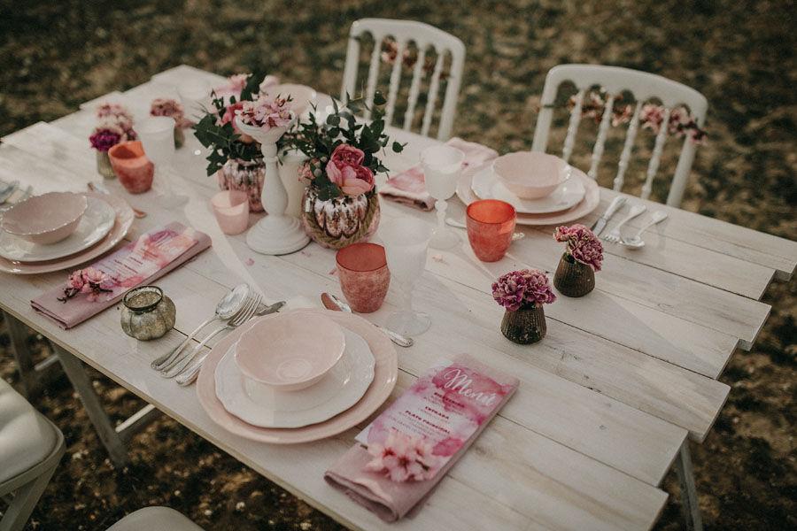 Mesa deco rosa