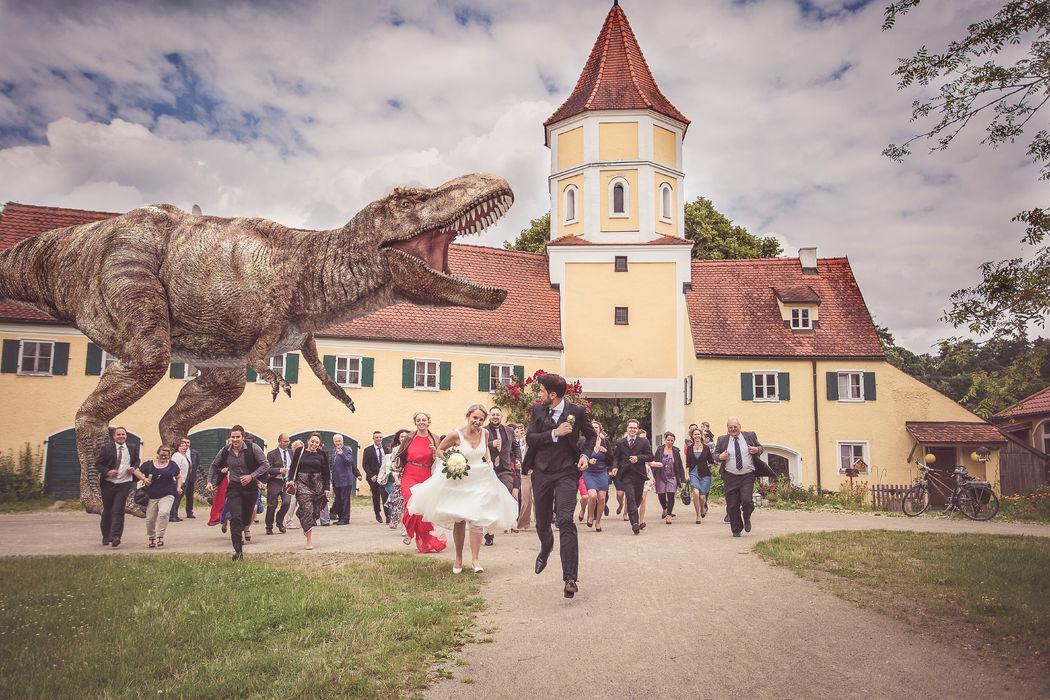 Beispiel: kreatives Gruppenfoto, Foto: Hochzeitsfotos - Augsburg Stadt & Land.