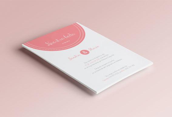 Invitación detalle rosa