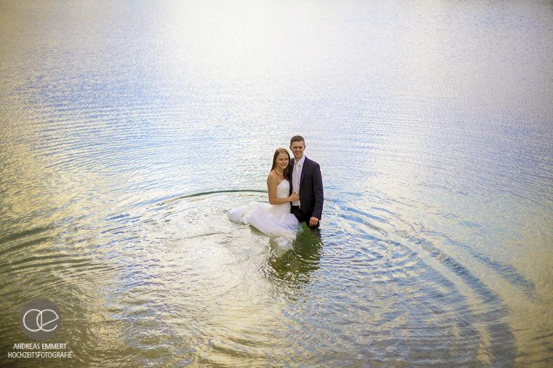 Beispiel: Trash the dress, Foto: Hochzeitsfotografie Andreas Emmert.