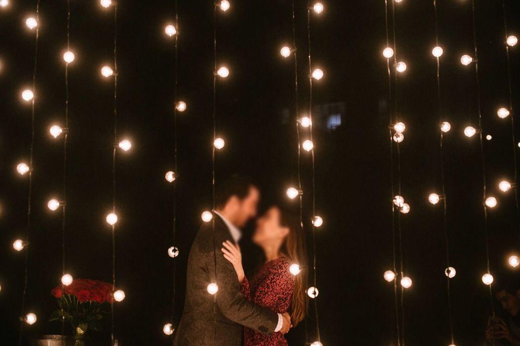 Cortina de luces bulbo