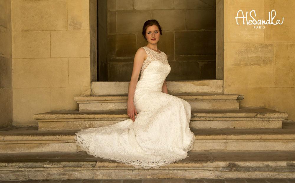 Alesandra Paris robe de mariée en dentelle