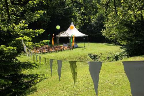 Beispiel: Pavillon im Garten, Foto: Villa Kunterbunt.