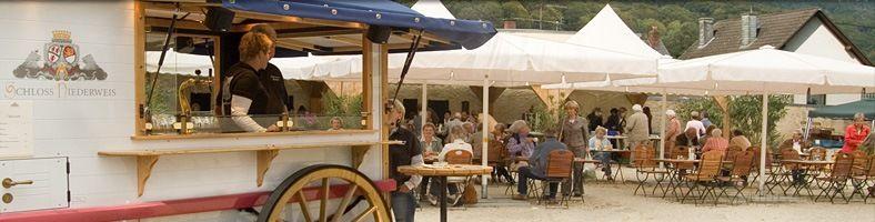 Beispiel: Biergarten, Foto: Schloss Niederweis.