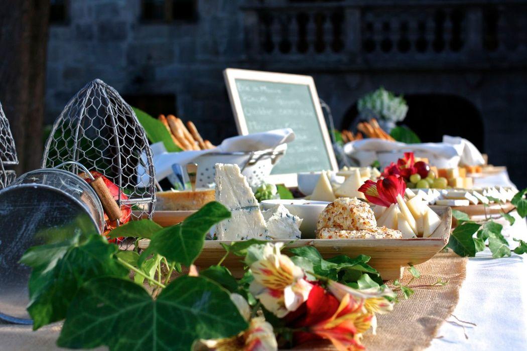 La mesa de quesos nacionales e internacionales