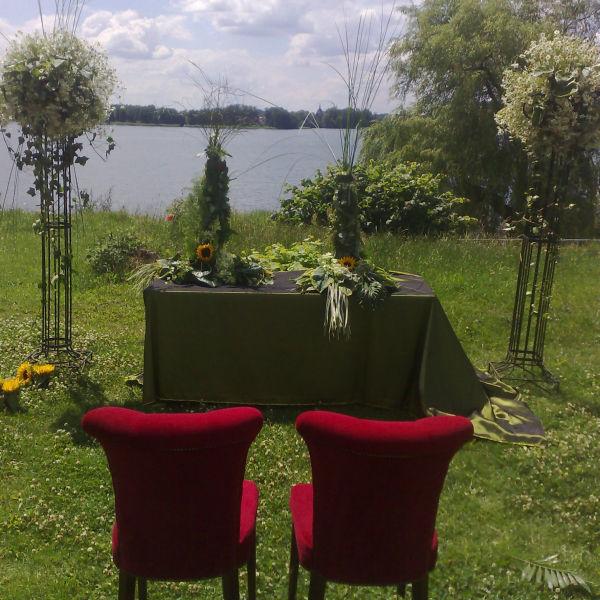 Beispiel: Trauungszeremonie, Foto: Hotel Restaurant Seeterrassen Wandlitzsee.