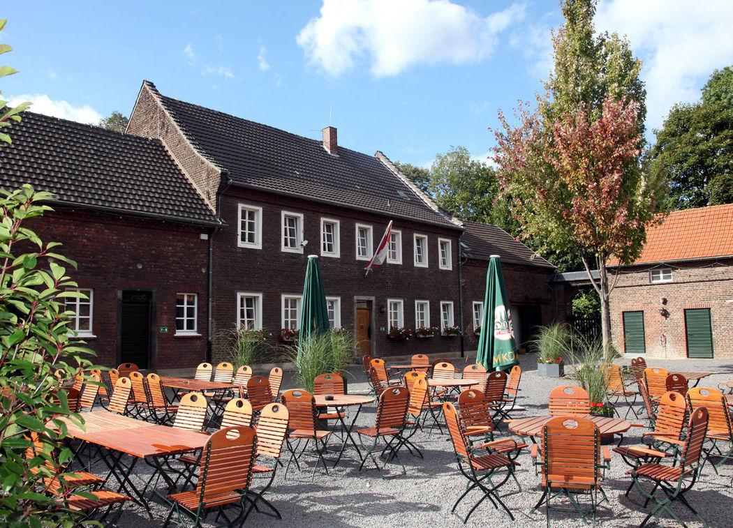 Beispiel: Außenansicht - Biergarten, Foto: Eltzhof - das Kulturgut.
