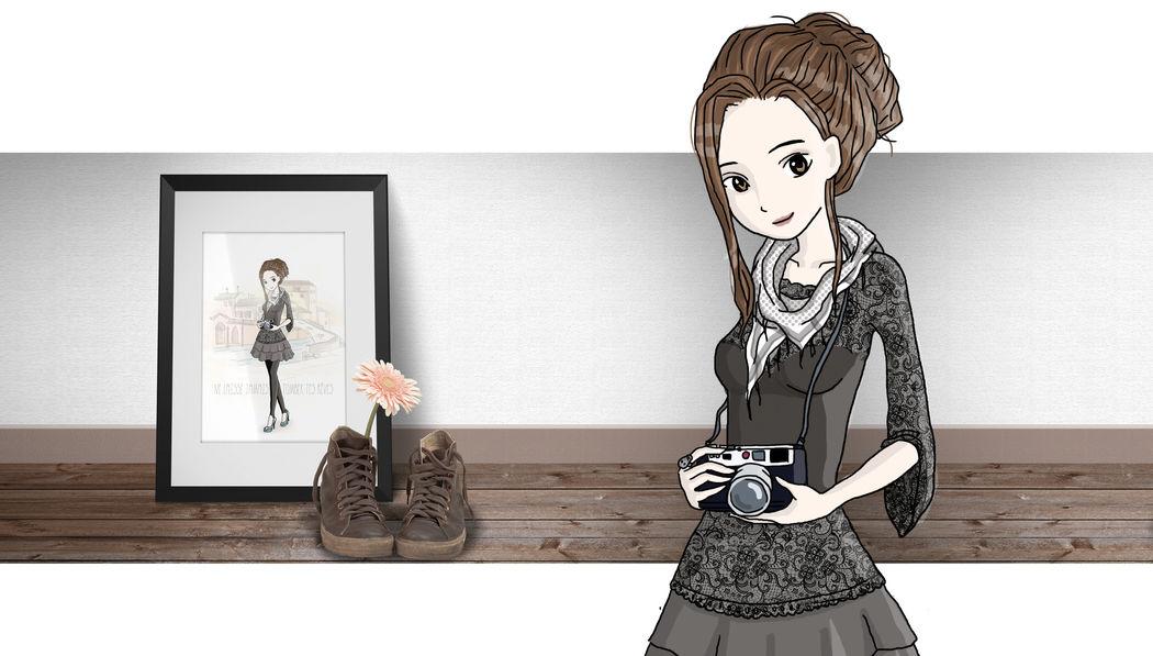 Illustration personnalisée jeune fille - Marina Gri