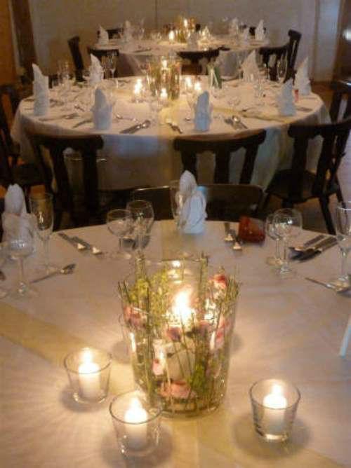 Beispiel: Tischdekoration, Foto: HILS-KOOP Gartenbaumschule & Floristik.