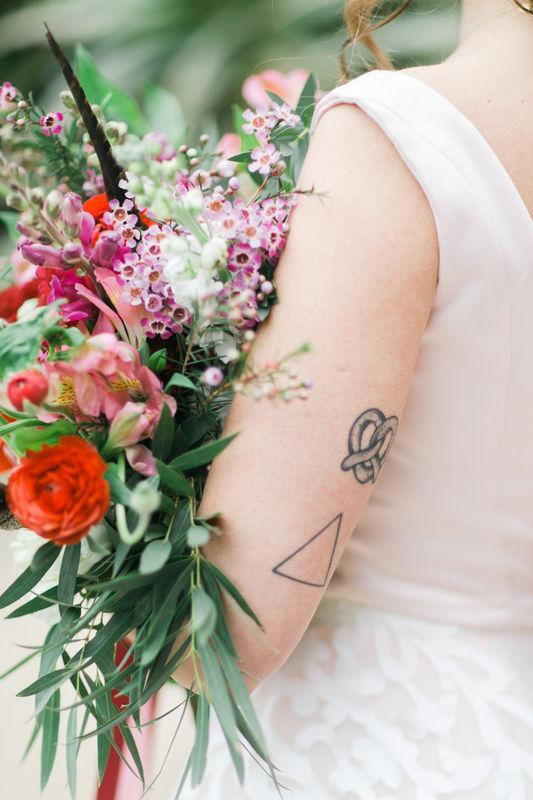 Noiva com bouquet