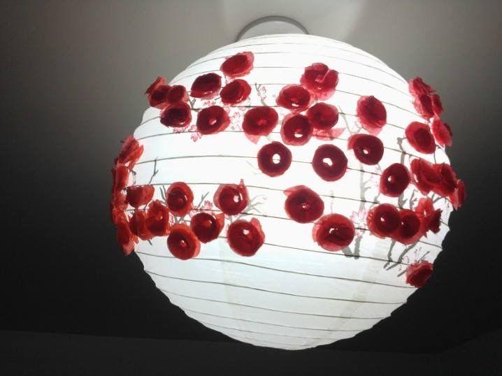 Luminária chinesa com Flôr espiral