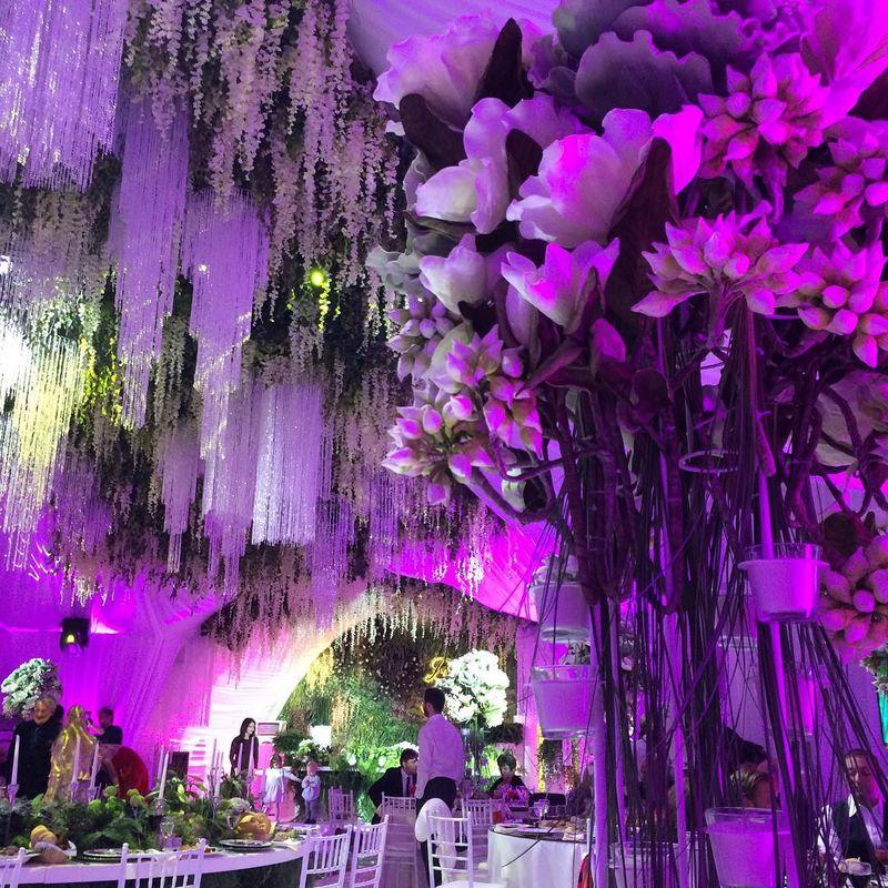 Декор свадьбы ночью