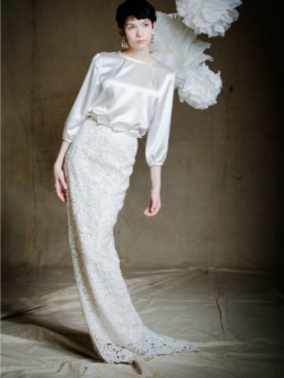 Beispiel: Brautmode, Foto: Lili Maras.