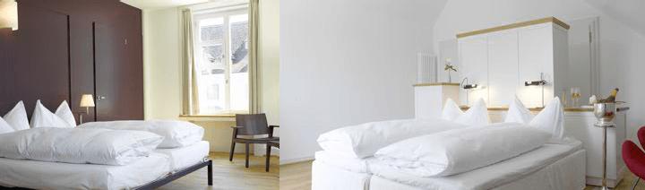 Beispiel: Zimmer, Foto: Schloss Binningen - Hotel im Schlosspark.