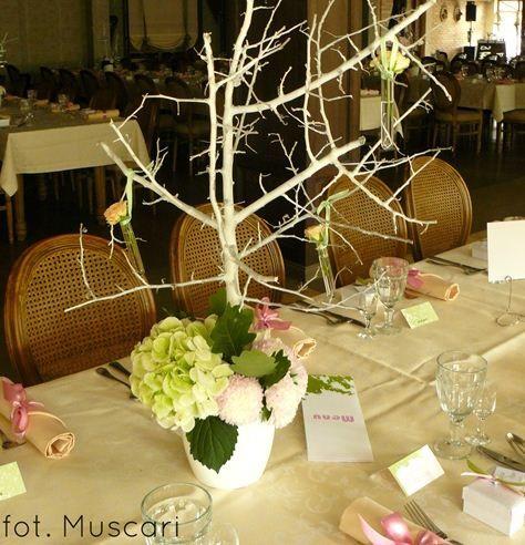 Kwiatowe dekoracje na ślub Muscari