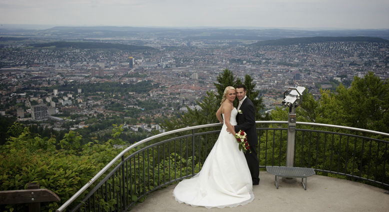 Heirat mit Ausblick, Foto: Uto Kulm.
