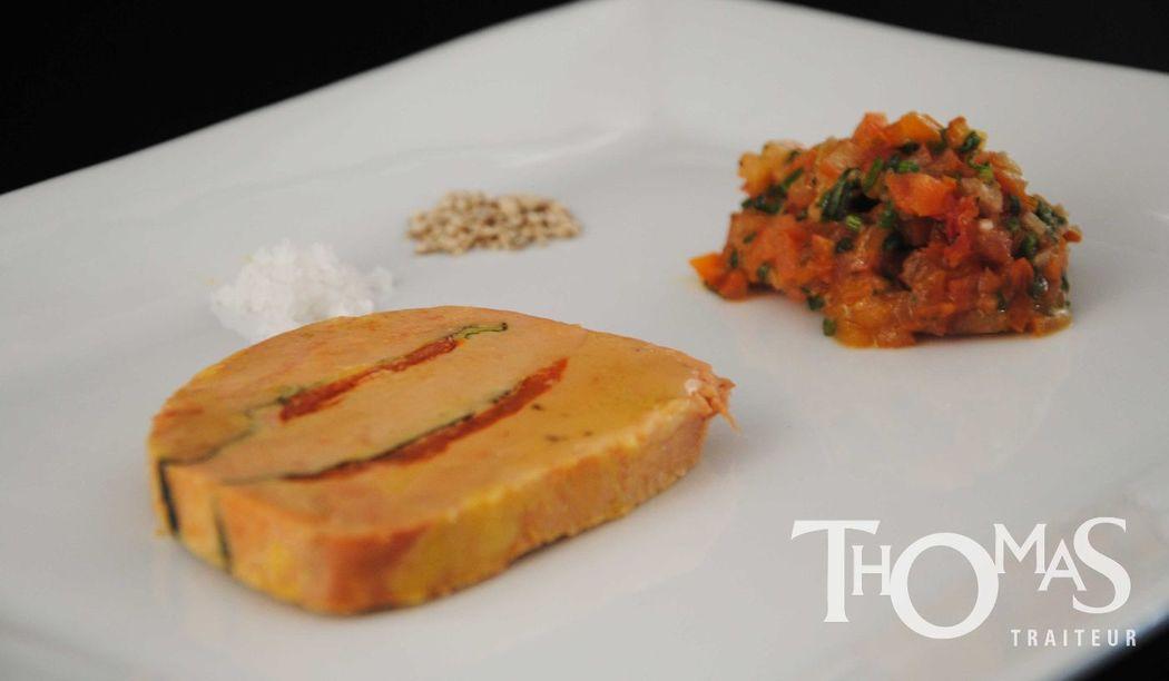 Entrée Froide : Foie Gras Tomate-Basilic