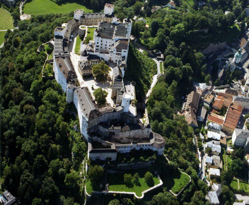 Beispiel: Luftbild, Foto: Festung Hohensalzburg.