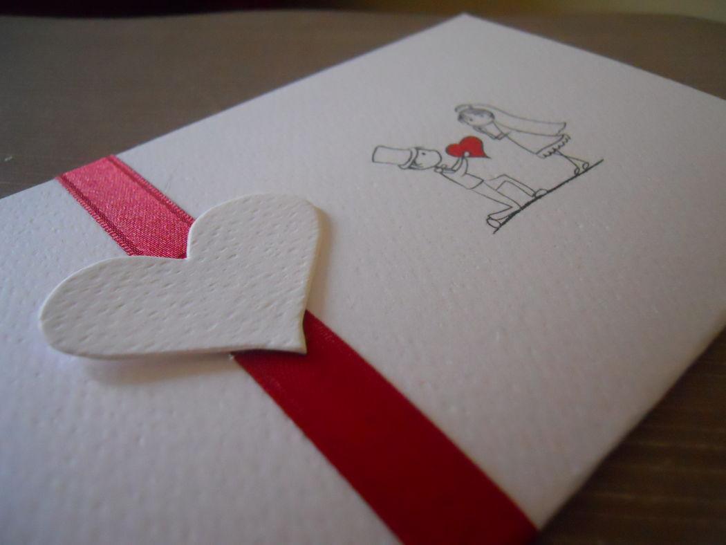 Partecipazione di nozze Mod. Amore