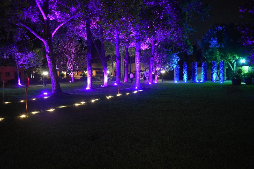 Renta de iluminación para Jardin