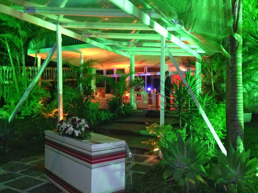 Iluminação decorativa externa
