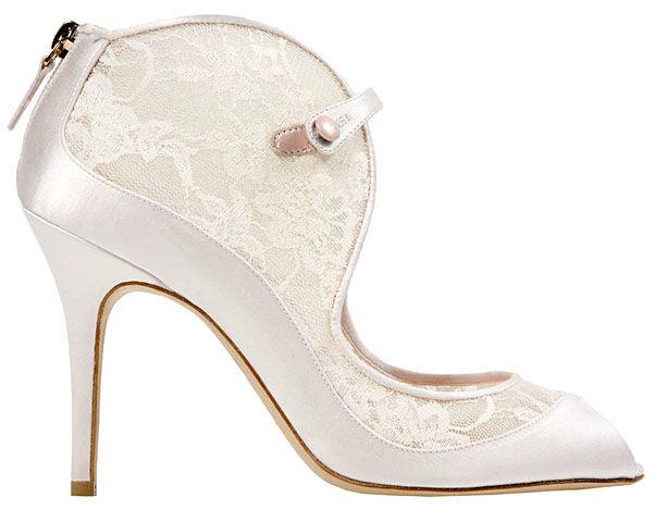 Zapatos para novia - Foto Monique Lhuillier