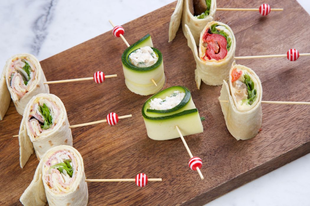 Wrap parisien - maki de courgette farçi au thon - wrap veggie