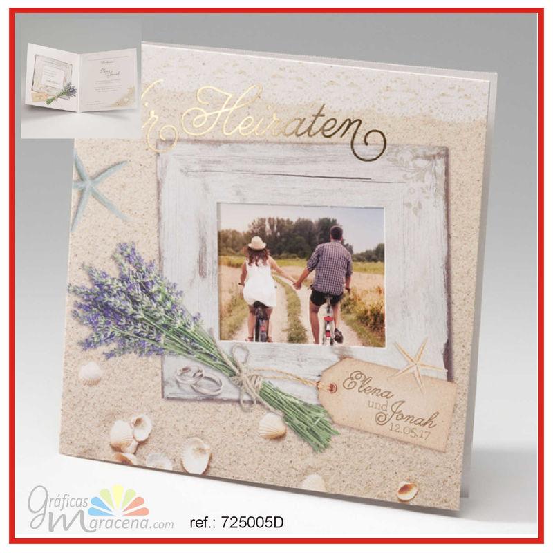 invitación de boda 2016 vintage