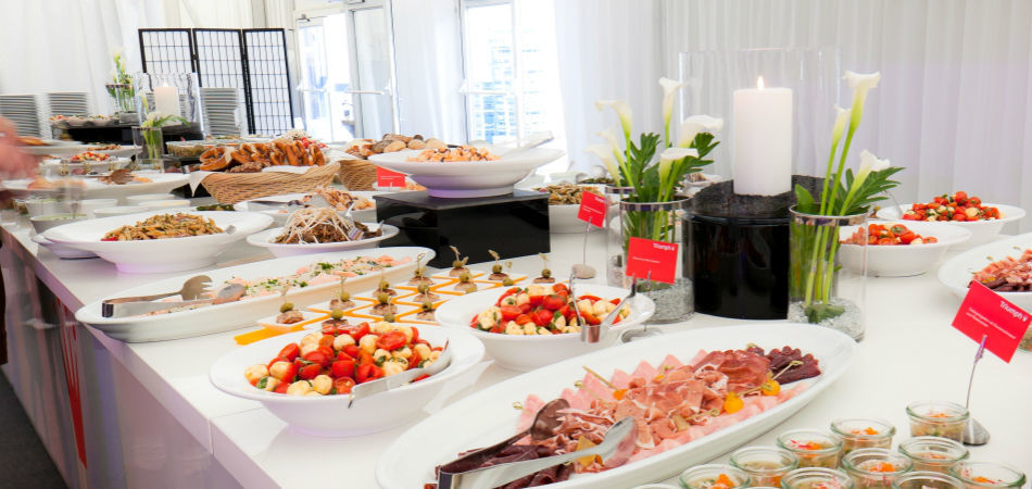 Beispiel: Buffet, Foto: Rauschenberger Eventcatering.