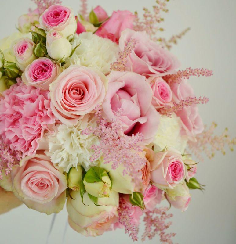 Bouquet de mariée rose pastel