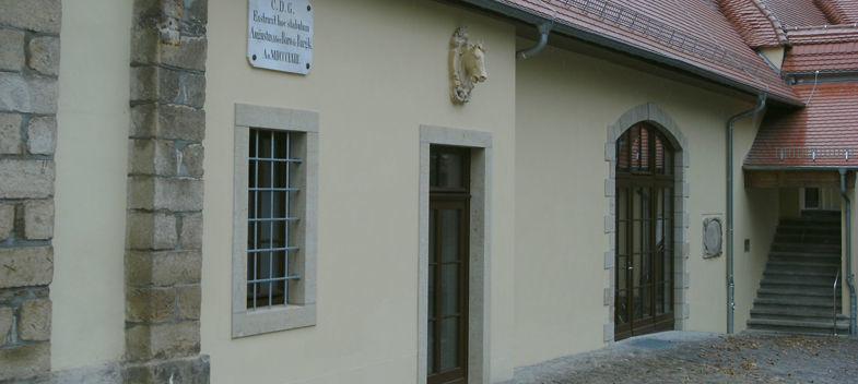 Beispiel: Schlosshof, Foto: Schloss Burgk.