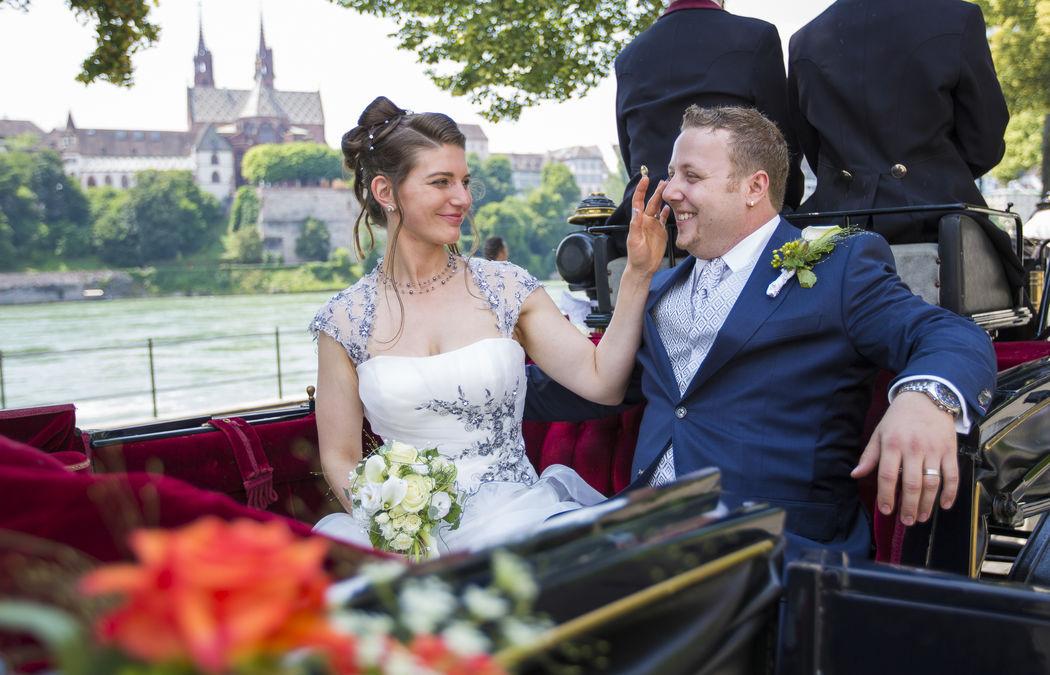 Unterwegs für das Brautpaarshooting