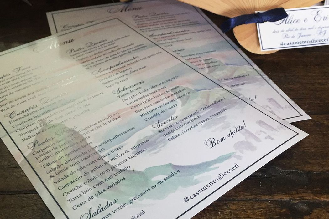 Alice e Eri - Detalhe do menu