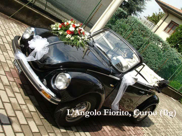 L'angolo fiorito - Addobbo auto con gerbere #Fiorista #matrimonio #Bergamo