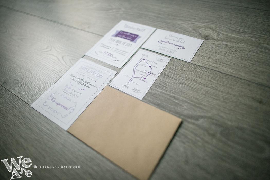 Invitaciones de Boda. Lavanda