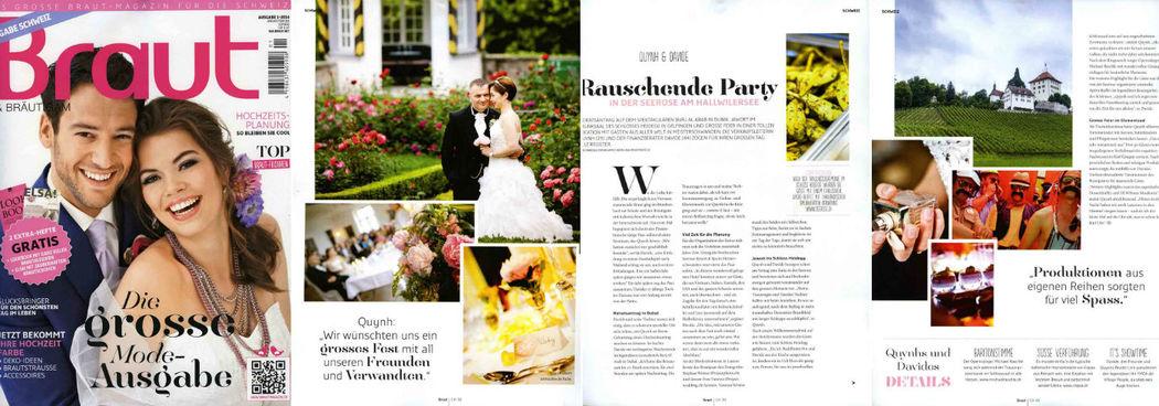 Beispiel: Presse & Media Veröffentlichung in Braut & Bräutigam über projectwedding.ch & projectphoto.ch