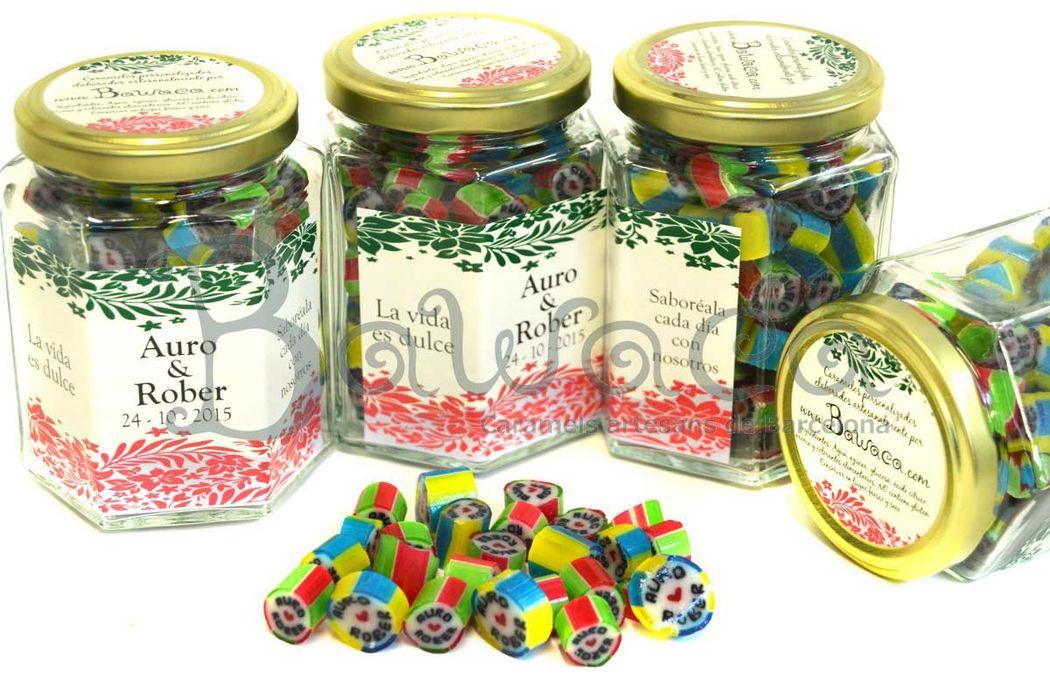 Caramelos personalizados en bote de 200 gr