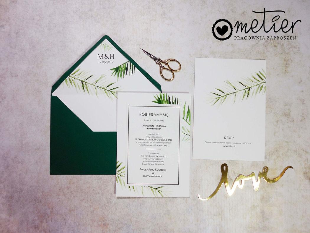 Metier - Pracownia Zaproszeń