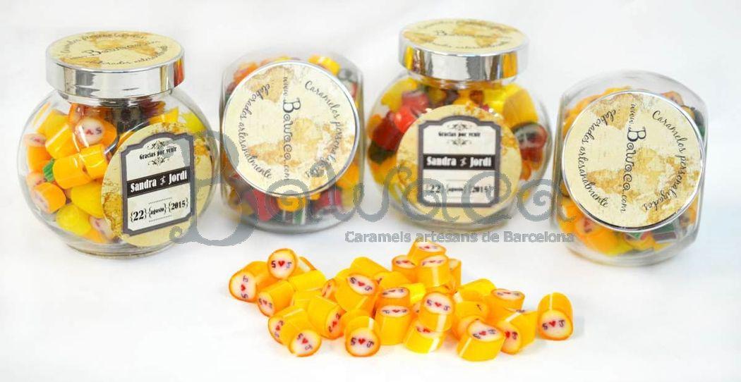 Caramelos personalizados en bote de 120 gr
