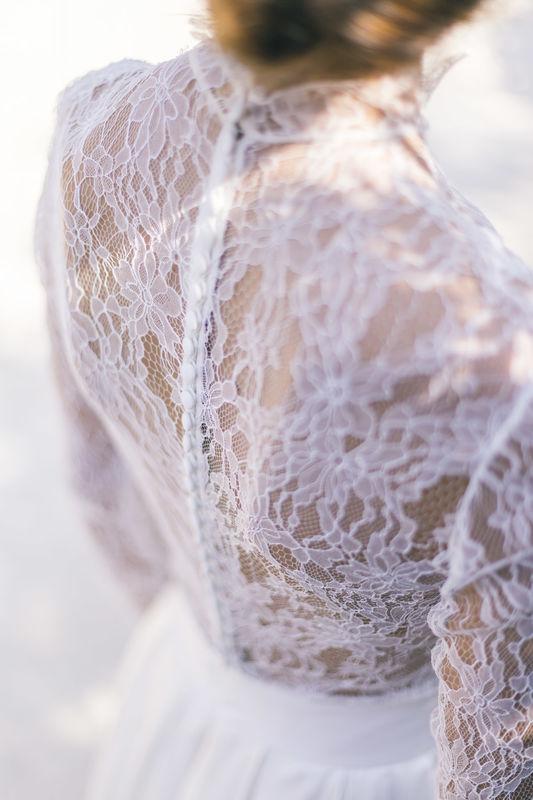 Robe de mariée en soie : Top Chloé