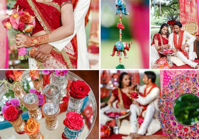 Farbenfrohe, exotisch indische Hochzeit  Foto: www.octaviaplusklaus.com www.octaviaplusklaus.com
