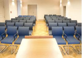 Beispiel: Festsaal bestuhlt, Foto: Villa Eugenia.