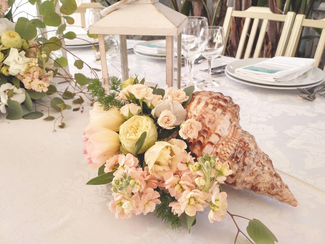 Centro de flores // Mesa dos noivos